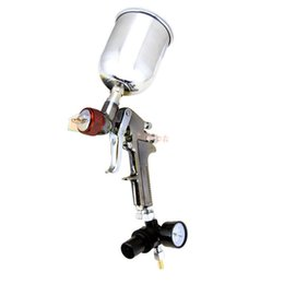 Wholesale 2 mm HVLP Air Paint Spray Gun w Gauge Auto Painting Gravity Feed Tools