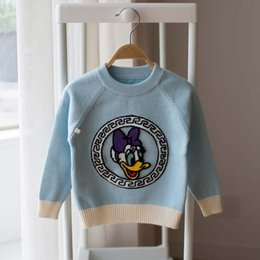 Wholesale Cartoon Pullover Sweaters Girls Tops Baby Clothes Kids Clothing Autumn Crochet Sweater Korean Girl Dress Children Pullover Ciao C27755