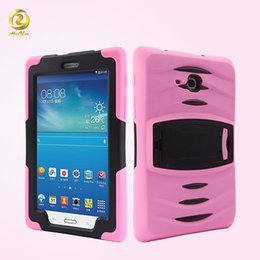 Wholesale Anti Shock Hybrid Armor Defender Stand Case Hard PC TPU Combo Cover Built in Screen Film Guard For Samsung Galaxy Tab Lite T116 T116C01