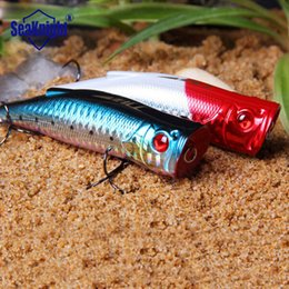 Wholesale SeaKnight popper bait hard fishing lures japan floating plastic big mouth lures blue red pink green color bass bait