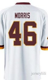 Wholesale Alfred Morris Burgundy Red Team Color white Jersey size small S xl top quality