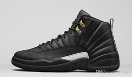 Wholesale Silk Black Cheap Lace Top - Top Quality 2016 NewThe Master 12 Mens Retro Basketball Shoes men Cheap Retro Sneakers XII For Men 12 Shoe Size 41-46