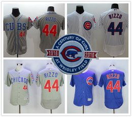 Wholesale 2016 Flexbase MLB Chicago Cubs Jerseys Anthony Rizzo Jersey Pinstripe Blue Grey Home Away