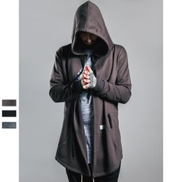 Wholesale Brand New Men hoodies brand cloak trend men s long sweater irregular cut sweatshirts fashion designer high quality hoodys