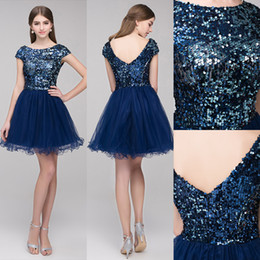 Sexy Sparkly Short Mini Homecoming Dresses Tulle Sequins High Quality Party Graduation Prom Dresses Vestido De SD396