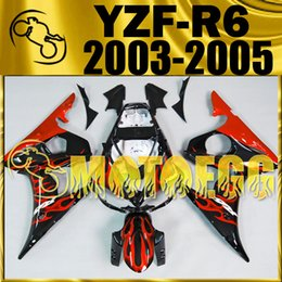 Wholesale Five Gifts Motoegg ABS Plastic Injection Mold Fairings Kit For Yamaha YZF R6 YZF R6 Aftermarket Motorcycle Flames Fairings