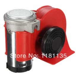 Wholesale Car Motorcycle Truck V Red Compact Dual Tone Electric Pump Air Loud Horn Vehicle Siren