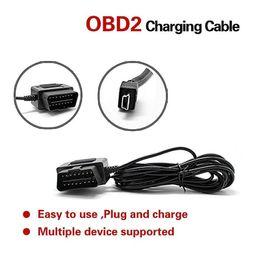 OBD 2 16pin macho a conector mini USB OBD 2 Potencia de carga del cargador cable del convertido para el teléfono DVR cámara de vídeo digital GPS desde mini cable de carga digitales fabricantes