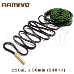 Wholesale Armiyo Bore Snake Barrel Rope Rifle Gun Cleaner Cleaning Sling Cal mm Hunting Tools Bagged Package
