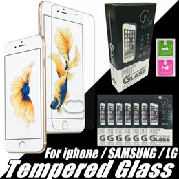 Wholesale For Iphone Plus Screen Protector Galaxy S7 Tempered Glass mm D Iphone Protecter Screen Film Protection With Paper Package