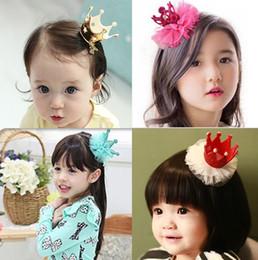 2016 Girl Hair Clips Childrens Accessories Kid Princess Flower Hair clips Korean Crown Barrettes Baby Hair Accessories