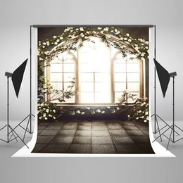 Kate 6.5x10ft Flower Arch Photo Backdrops Floral Window Background Fabric Customized Photography Prop Seamless 6560B