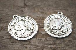 Wholesale 5pcs platform Charms Antique Tibetan Silver harry potter Charms penant x34mm