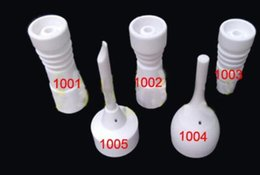 14mm 18mm Domeless ceramic nails with male female joint, made of ceremic vs quartz nail titanum nail
