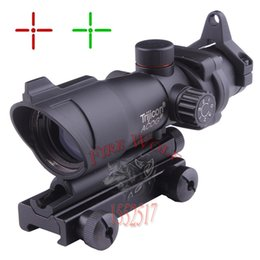 Wholesale Tactical New Hunting ACOG X32 Telescopic Sight Red Green Dot Laser Sight mm Mounts