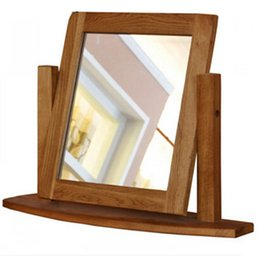 Wholesale HUAYI Solid Oak Dressing Table with Stool Mirror Bedroom Furniture Tabletop Mirrors