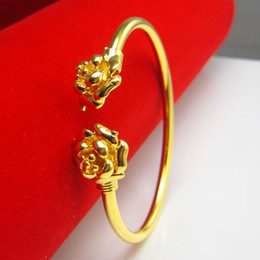 For a long time does not fade gold bracelet small woman 24K Gold Rose Bracelet imitation gold wedding jewelry in Hongkong