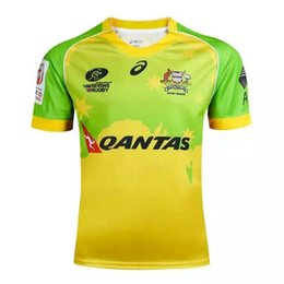 Wholesale Australian football clothing football jersey home yellow Thailand quality package mail