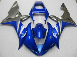 Motorcycle Fairing kit for YZFR1 02 03 Injection mold YZF R1 2002 2003 YZF1000 blue grey ABS Fairings set+
