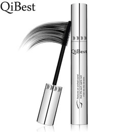 Wholesale Qibest Silver Tube Big Eyes Waterproof Mascara is not blooming Brand Mascaras for Women DHL High Quality qibest1