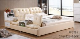 Wholesale GENUINE LEATHER YELLOW ELEGANT STYLE MODERN SIMPLE DOUBLE PERSON FASION FURNITURE GOOD QUALITY cm AFA9679