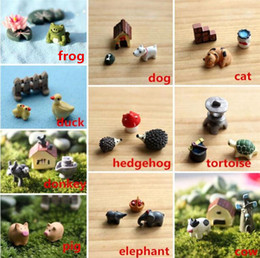 Wholesale New Arrivals set Garden Ornament Decorations Miniature Figurine Plant Pots Fairy DIY Dollhouse Decor Resin Cute CX242