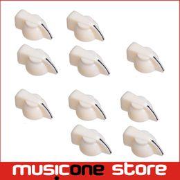 Wholesale 10Pcs White mm Shaft Guitar Effects Pedal Pointer Chicken Head Knob quot Shaft Screw MU0729