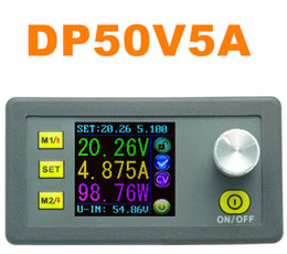 Wholesale DP50V5A Adjustable Voltage Regulator Constant Voltage Current Step down Power Supply Module color LCD Voltmeter