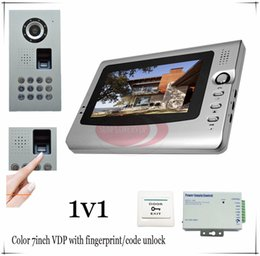 Wholesale 1v1 Quality Fingerprint Code unlock Video door phones intercom systems outdoor unit waterproof IP65 Access control power supply