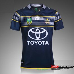 Wholesale DHL NRL National Rugby League North Queensland Cowboys rugby jersey High temperature heat transfer printing jersey Rugby Shirt
