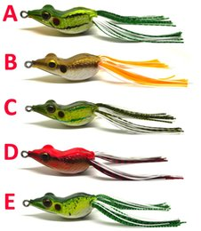 Wholesale 3pcs Bass Pike Snakehead Fishing Soft Bait Lure Frog w Lang Skirt Floating Weedless Single Hook NEW