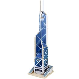 Wholesale Toys Child Early Education Wooden D Puzzle Building Bank of China Tower