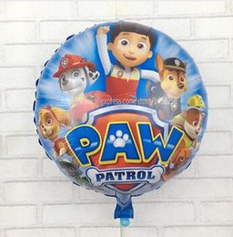 Wholesale Dogs Patrol Globos Foil Balloons Kids Toys Birthday Party Decoration Helium Balloons