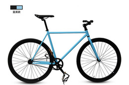 Wholesale Male and female models dead coaster bicycle shifting color cycling bicycle brake down Students Cycling Fixed Gear Bikes