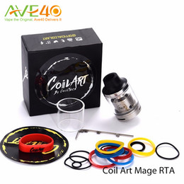 Wholesale Coil Art MAGE RTA Tank Coilart Mega RTA ml Capacity mm with Replacement Glass Tube Original by CoilTech