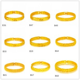 6 pieces a lot mixed style hot sale fashion men's yellow gold Bracelet,diamond heart arrow 24k gold Bracelet EMKB9