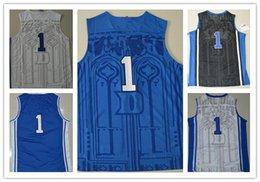 Wholesale Hot Sale College Jerseys Uniform Home Black Blue White Duke Basketball Jerseys Stitched name number Size S M L XL XXL