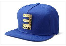 Letter E EMINEM Hockey HipHop Snapback Caps Hip Hop Cotton Leather Cap Adjustable 4 Colors For Men