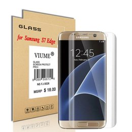 Wholesale Hardness H Screen Protecter Tempered Glass Ultra thin mm Reinforced Front Film for Samsung galaxy S6 S7 Edge Note
