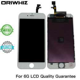Real Photo Grade AAA Quality for iPhone 6 6G LCD Touch Screen Digitizer Assembly Black and White Color Perfect Packing Mix Color