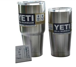 Wholesale 304 Stainless Steel YETI Cooler Cups Insulation Rambler Tumbler Cup oz oz ml ml Bilayer Beer Mug Tumblerful Factory Produce
