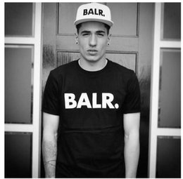 2016 hot sale mens t shirt short sleeves BALR Cotton 5 colors xs- XXL free shipping