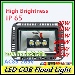 Wholesale DHL Epistar LED COB flood light project lamp W W W W W W out door water proof lighting AC85 V