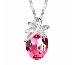 Fashion Crystal Butterfly Necklace For Women Silver and Golden Color The butterflies dance summer Necklace Jewelry B43