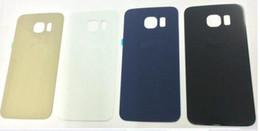 Wholesale Pour cas Porte Samsung Galaxy S6 G920 Verre Batterie Couverture arrière couvercle du boîtier arrière Pièces châssis de remplacement pour téléphone réparation rénovation