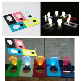 Wholesale Novelty Lighting Best price novelty Mini Portable Pocket LED Card Light Lamp put in Purse Wallet