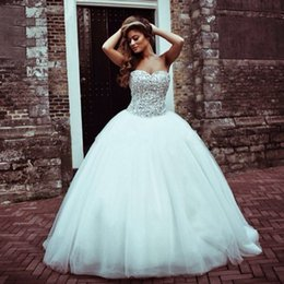Sparkly 2019 Quinceanera Dresses Corset Sweetheart Sequins Beaded Ruched Tulle Ball Gown Sweet 16 Debutante Girls Masquerade Ball Gowns