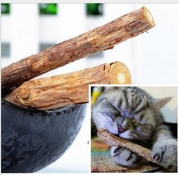 Wholesale Catnip Silvervine teeth Sticks Cats Dental Health Sticks Pets Catnip Products wood toys cats snacks cats favor newest