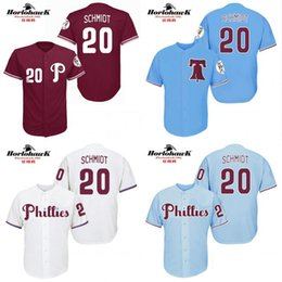 Wholesale Philadelphia Phillies Mike Schmidt cool base New Design throwback Baseball Jersey S XL For Sale stitched