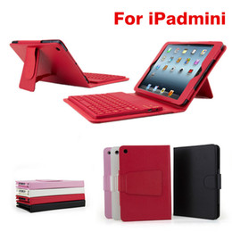 Wholesale Bluetooth Wireless Keyboard leather case for Ipad Pro air mini retina Stand Holder Protector Protective Lined With Keyboard